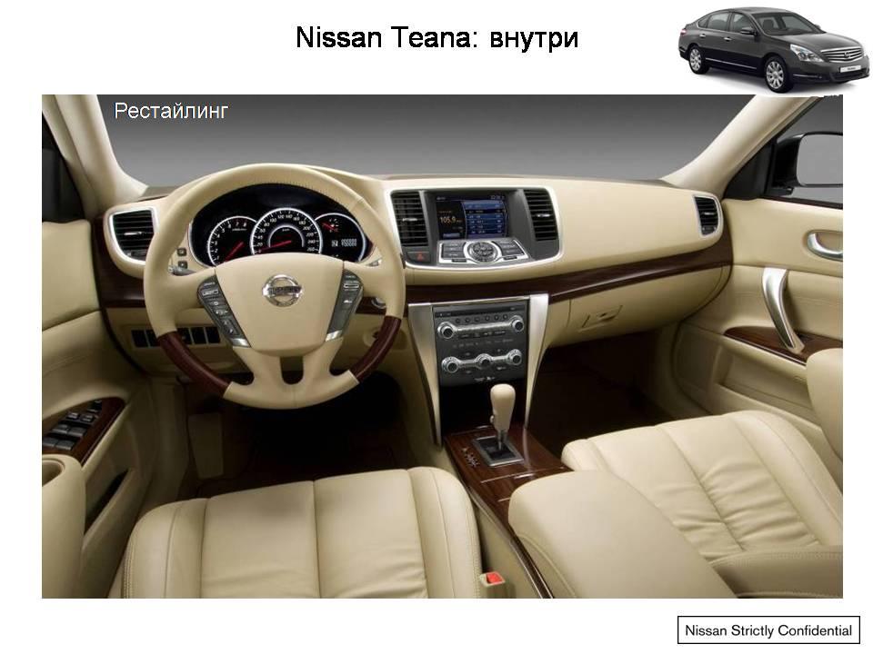 новую модель Ниссан Тианы 2013 года